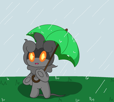 Marshadow in MS Paint