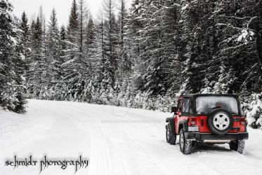 Off in the snow by DisturbedOne666