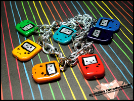 Game Boy Rainbow Bracelet by GrandmaThunderpants
