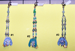 Hatsune Miku Beaded Fobs by jordannamorgan