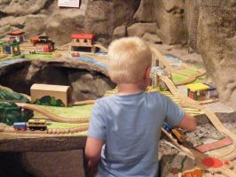 Nephew with Trains, pt. 1 by Arkylie