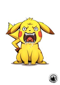 Angry Pikachu by mysticalpha