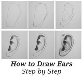 Tutorial: How To Draw Ears Step By Step by RapidFireArt