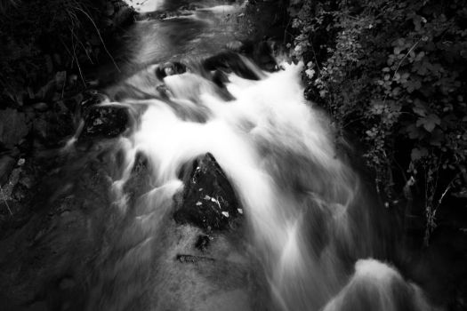 Smooth River BW by Tiago-Borges