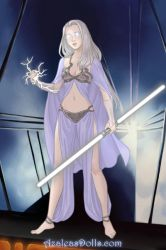Emma Frost Sci Fi Warrior by namesarestupid