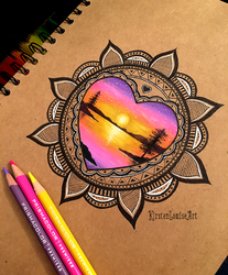 Mandala by KirstenLouiseArt