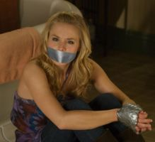 Kristen Bell Tape Bound and Gagged by Goldy0123