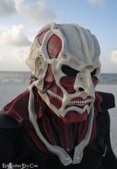 Colossal Titan Leather Mask by Epic-Leather