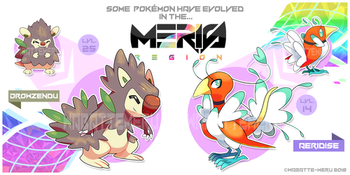 Meris Region Pokemon 4 by Wabatte-Meru