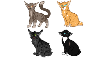 Cat Adoptables 1|1/4 Open by alliekittycat