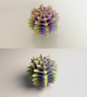 Alient Egg Print vs. Render by llewelld