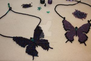Butterfly Necklaces by WhiteMagicPriestess