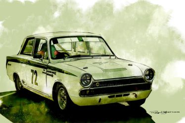 Lotus Cortina by HaroldWood