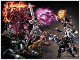 Uncanny X-Force 11 cover by diablo2003