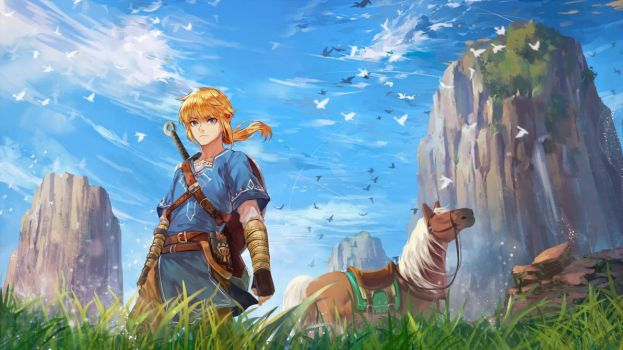 Link - Breath of The Wild by Hanh-Chu