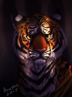 Tiger Painting by Arvemis