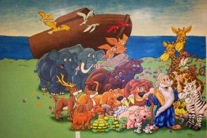 Noah's Ark Mural by pockets1987
