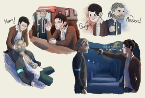 Hankcon reverse doodles by Umikah