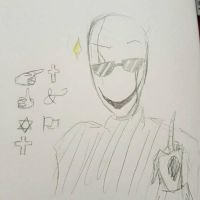 Gaster the douche by Crummy-Juncture