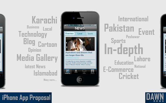 Dawn News iPhone Proposal by ArsalanAly