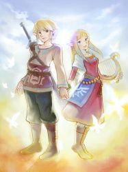 Link and Zelda by kamipallet