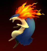 Typhlosion doodle by Renz1521
