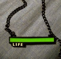 Life Bar Necklaces by GrinningManiac