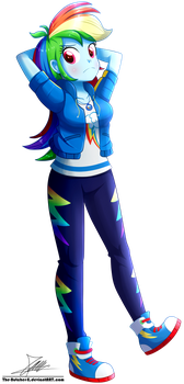 .:Rainbow Dash - EqG Style:. (Commission) by The-Butcher-X