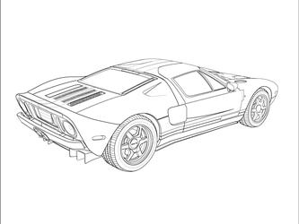ford gt outline by xikinight