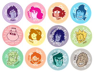 SAKANA button sale! by MyNameIsMad