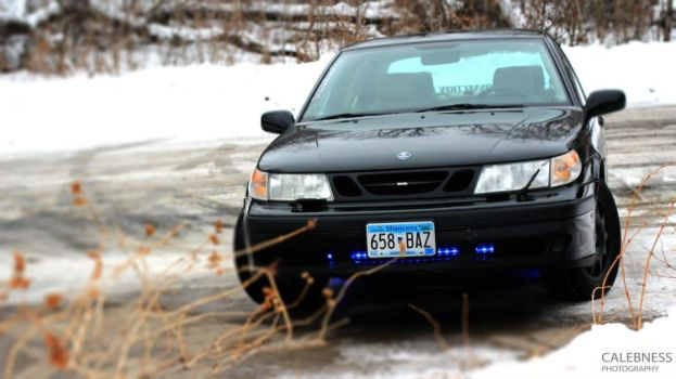 Front View  of my Saab by Ness1000