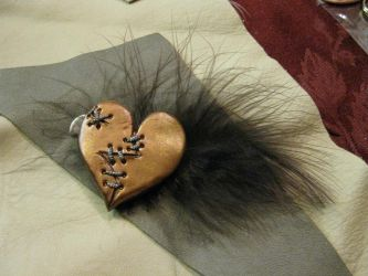 Stitched Heart Hair Clip by ChildOfPuck