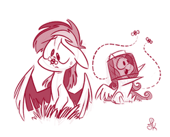 Bumble Trouble or Beekeep Perfectly Still by FluttershytheKind