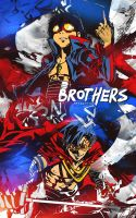 [Large Art] Brothers - Gurren Lagann by Dwayn-KIN
