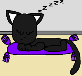 Sleeping Panther Cub Wing by angelthewingedcat