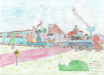 Dino World Express with Railroad Crossing by WillM3luvTrains