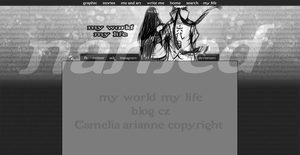 My world, my life - blog layout no. 23 by Tokimeki-chan