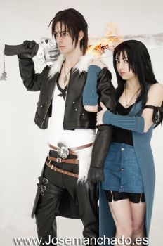 Squall and Rinoa by Virchan