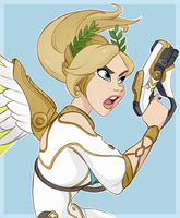 Winged Victory Mercy by witchylizzy