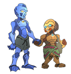Matoran Couple by NickOnPlanetRipple