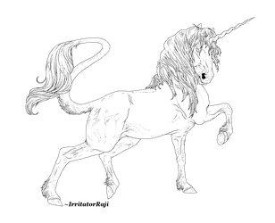 Friesian Unicorn Line Art [FREE] by IrritatorRaji