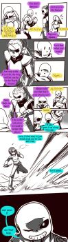 Failed Genocide! Undertale Gauntlet Throne Pt 4 by KuraiDraws