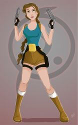 Attempt at a Disney version of Classic Lara Croft by littlesusie2006