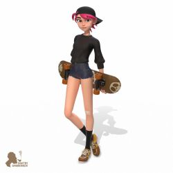 Skate Girl by DmitryGrebenkov