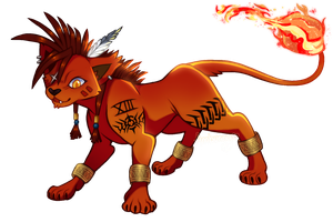 FFVII -- Red XIII by Ambunny