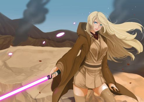 Jedi Girl by pinnippin