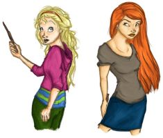 DH Ginny and Luna by MioneBookworm
