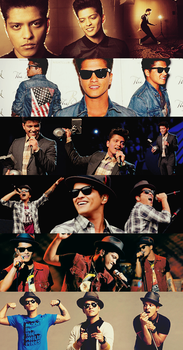 Bruno Mars Faces by inmany