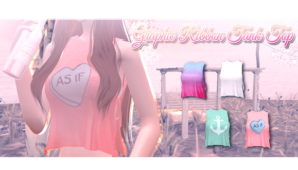 Graphic Ribbon Tank Top - MMD Download by Shiremide1