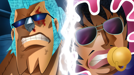 Franky vs Senor Pink by HayabusaSnake